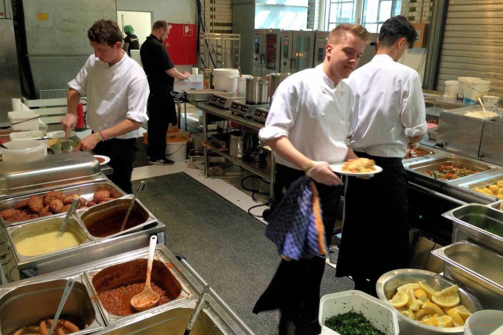 Die Küche im Restaurant der #rp15