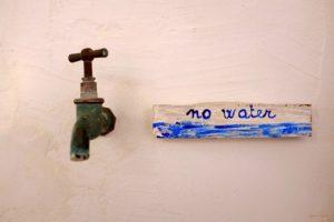Kein Wasser