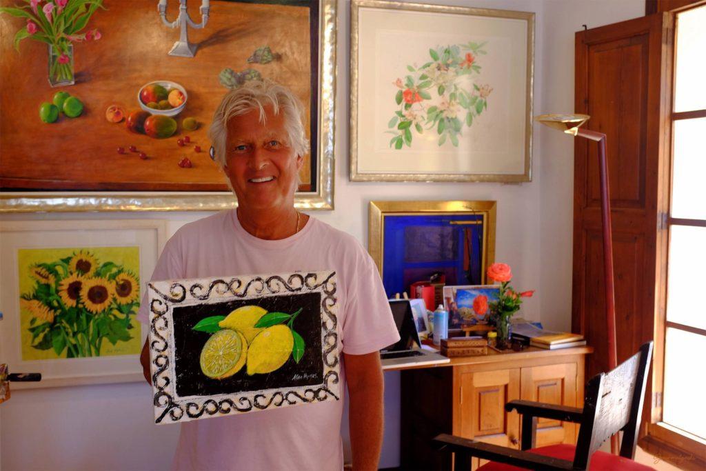 Alan Hydes mit Zitronenbild