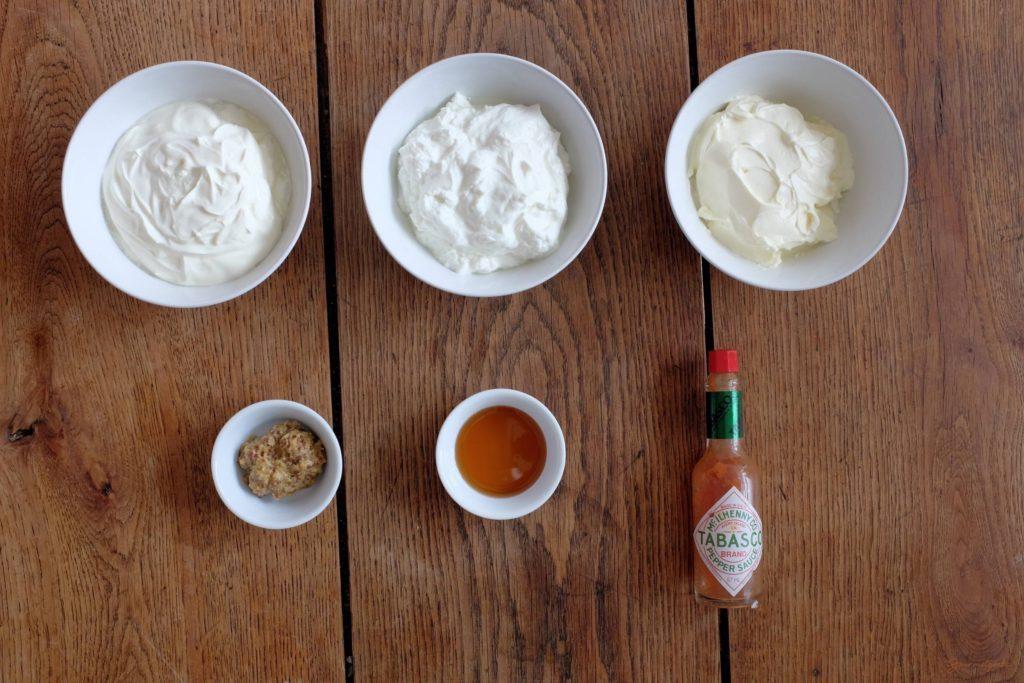 Zutaten für den Honig-Senf Dip