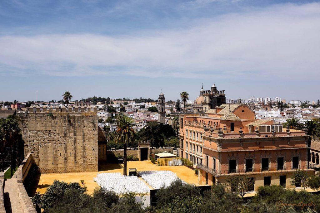 Blick über Jerez de la Frontera von der Alcazar