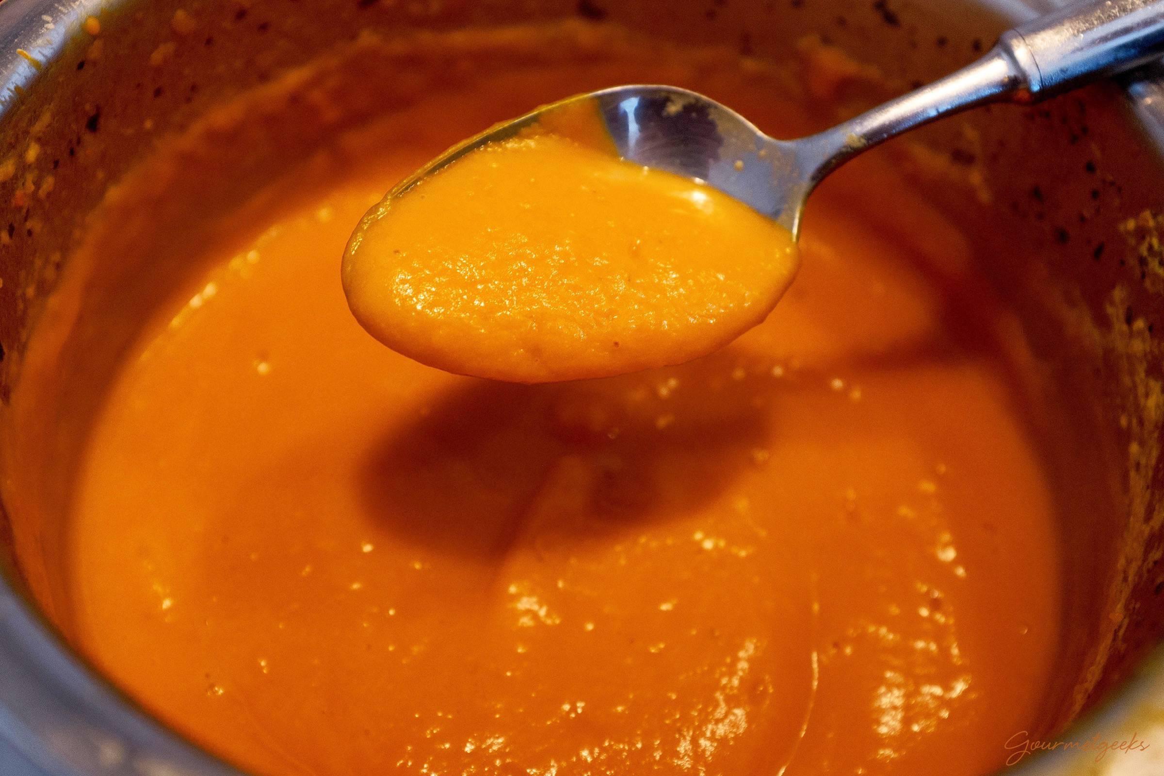...bis die Suppe schön cremig ist