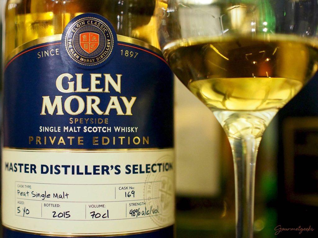 5 järhiger Peated Single Malt aus der Master Distiller's Collection von Glen Moray