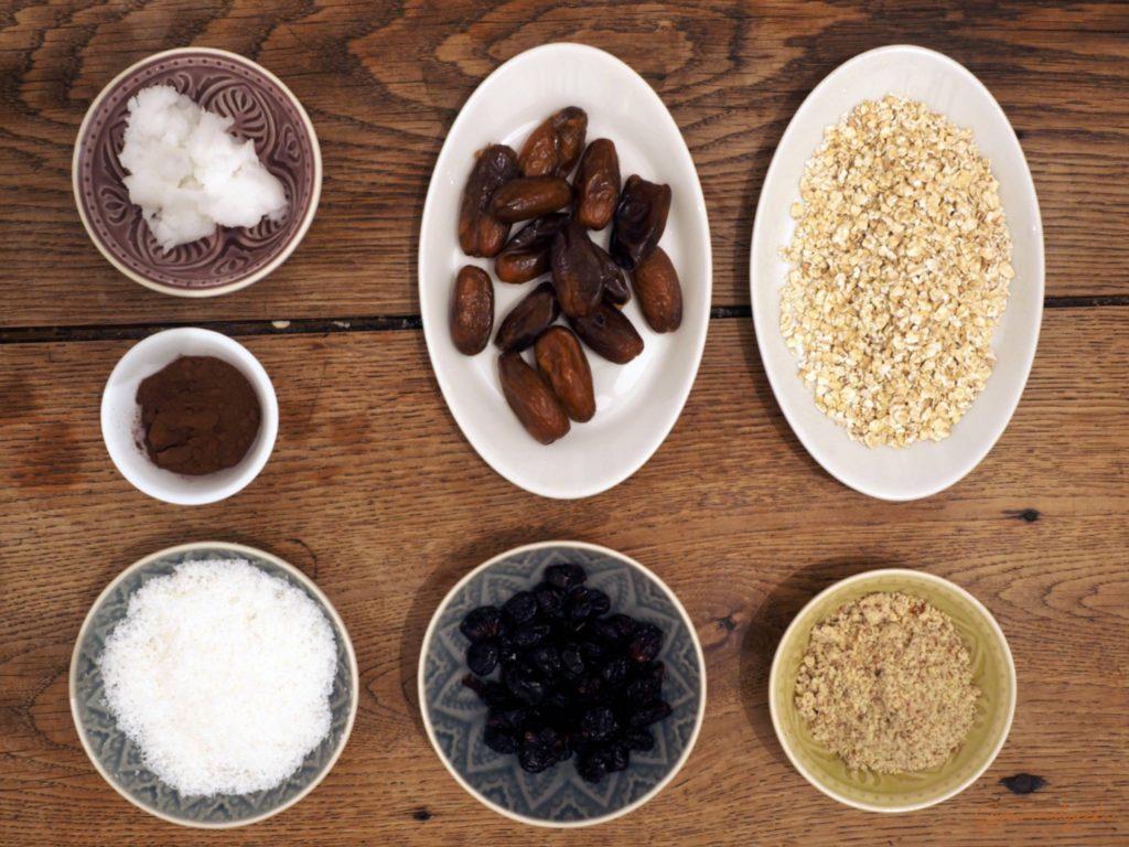 Die Zutaten für die Kokosvariante