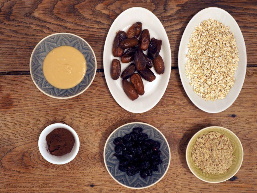 Die Zutaten für die Erdnussvariante