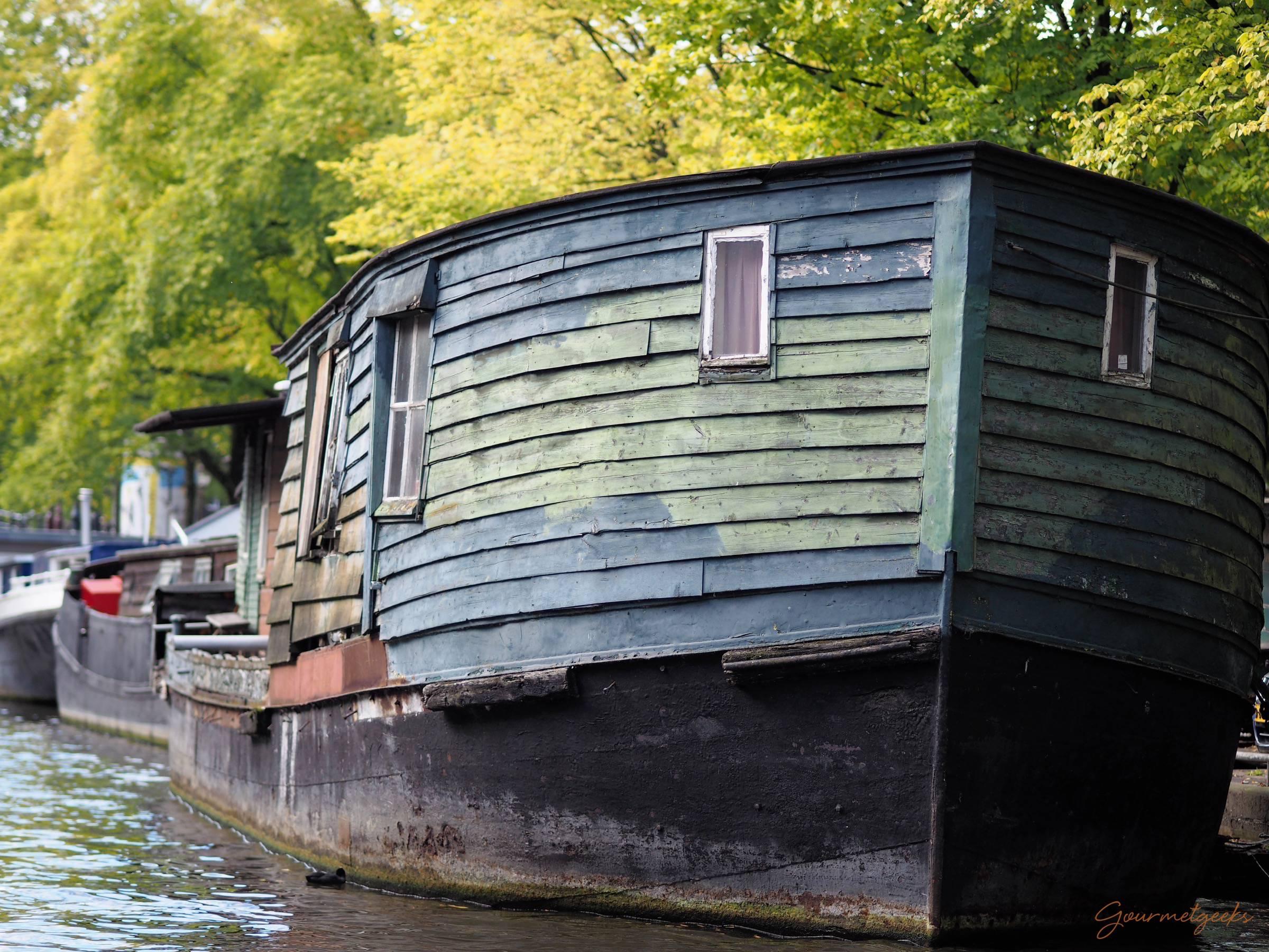 Amsterdams ältestes Hausboot
