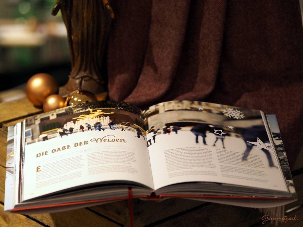 Zwischen den Rezepten gibt es weihnachtliche Geschichten aus New York