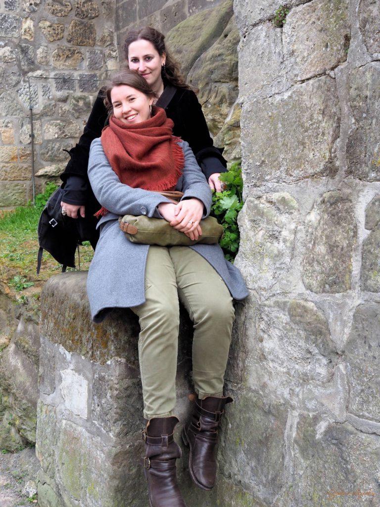 Pause beim Aufstieg zum Schlossberg