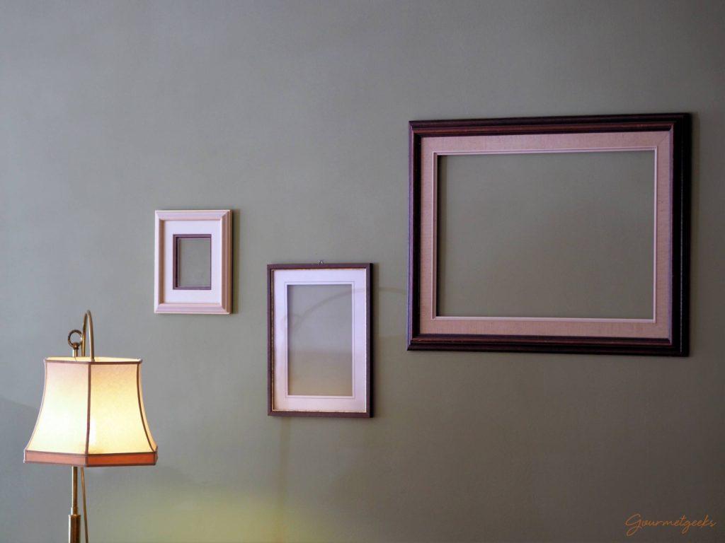Rahmen mit Lampe