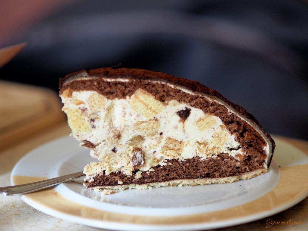 Ein Traum aus Baumkuchenstücken, Rumcreme und Schokolade