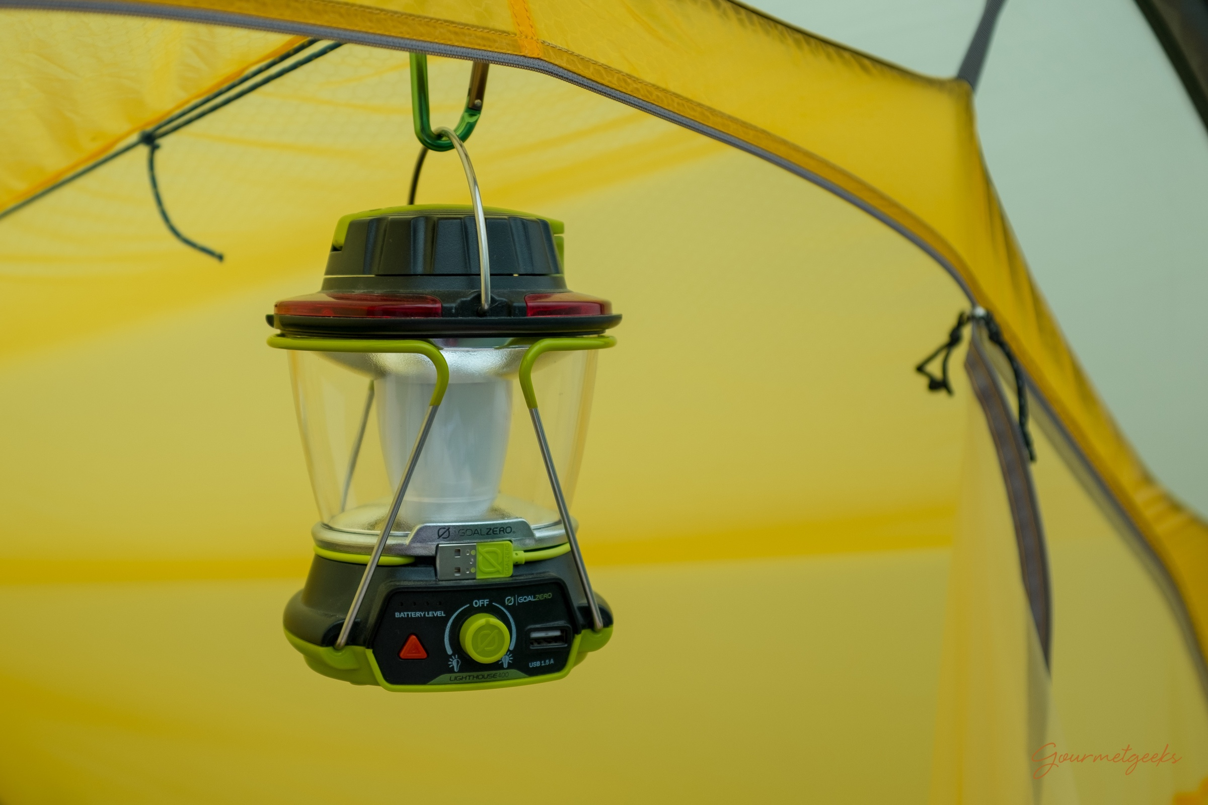Zeltlampe mit Powerbank :-)
