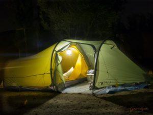 Unser Zelt - klein, leicht und mistralfest